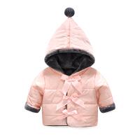 201805050605398女婴儿卫衣服秋装外套装1岁0男宝宝加厚保暖秋冬装