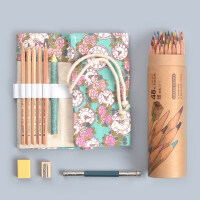马可水溶性彩铅笔36/48色马克油性专业画笔美术用品手绘彩色铅笔
