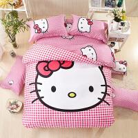 棉公主风床上三四件套棉凯蒂猫儿童床单3卡通床品1.8m单双人