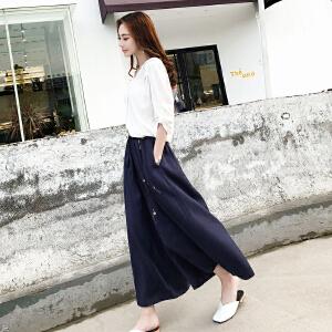 【超值两件套装】阔腿裤套装女春夏2018新款时髦两件套韩版宽松气质九分裤时尚套装
