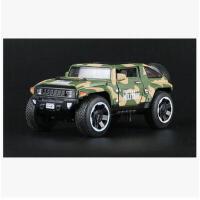 悍马HX越野车军车模型儿童玩具回力小汽车模型仿真合金玩具车男孩