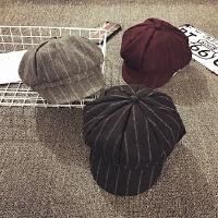 儿童帽子女冬季八角帽男宝宝帽子画家帽秋天贝雷帽加厚鸭舌帽韩版