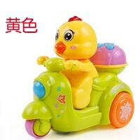 电动玩具男孩宝宝公鸡车女孩婴儿童万向带音乐发光6-12个月