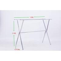 免安装折叠晾衣架X型阳台落地式双杠晾晒架晾晒杆衣晒被架 1个