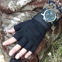 战术手套半指特种兵户外训练军迷用品装备黑鹰格斗作战半截手套男 X