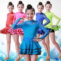 儿童演出服新款春秋长袖女孩练功服公主裙舞蹈表演