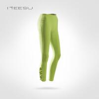 瑜伽服女秋冬户外运动跑步长裤健身紧身高腰显瘦九分裤T065