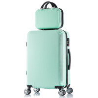 七夕礼物旅行箱万向轮20寸拉杆箱24寸行李箱印字通用 绿色子母箱 28寸