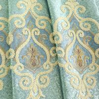 定制欧式大气窗帘纱布料落地客厅刺绣花雪尼尔遮光成品