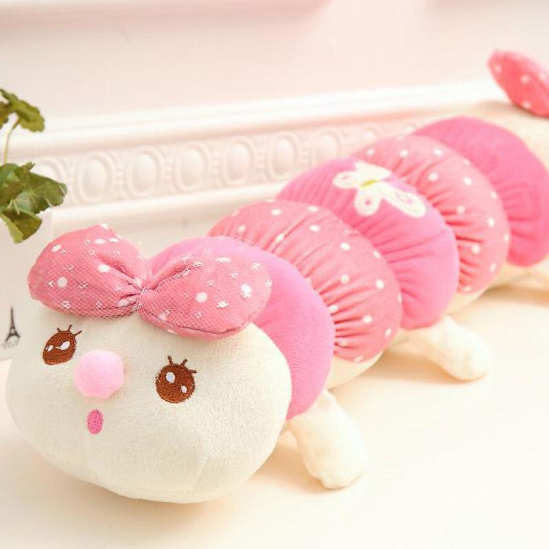 儿童玩偶毛毛虫毛绒玩具布娃娃长条可爱圆形抱枕公仔女生