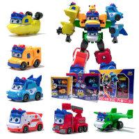 百�校巴�形金��玩具套�b校�巴士歌德消防警��和��C器人�i�i�b