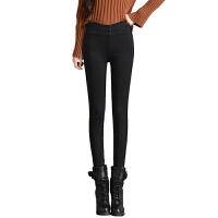 打底裤加绒女冬外穿小脚裤新款女黑色保暖高腰棉裤修身铅笔裤
