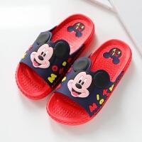 迪士尼儿童浴室拖鞋夏季居家可爱卡通洗澡凉拖鞋女童男童防滑软底