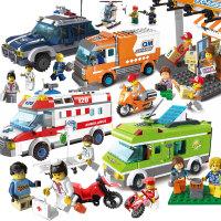 儿童拼装拼插玩具6-8-10岁以上男孩女孩积木城市系列别墅