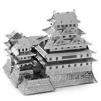 3D全金属不锈钢拼装模型立体拼图 姬路城模型