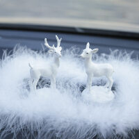 创意汽车摆件可爱个性一路平安鹿车载漂亮装饰男女车内饰品摆件