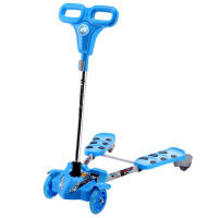 捷豹(L-pard)剪刀车可折叠蛙式滑板车摇摆扭扭车四轮闪光儿童剪刀车
