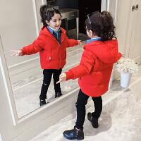 儿童冬季洋气外套2018新款韩版假两件棉袄短款女孩棉服