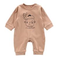 男宝宝春装卡通连体衣全开档0-1周岁新生儿爬爬服婴儿衣服外出服