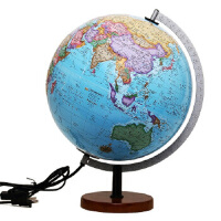 博目地球仪・贝斯马克:30cm中英文政区灯光立体地球仪(根据美国专业测绘高程数据计算生成全球立体地形