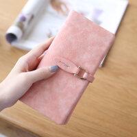 新款钱包女长款 日韩版学生搭扣小清新磨砂多卡位女士钱包钱夹