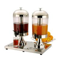 不锈钢果汁鼎 高端酒店商用自助餐双头冷饮机 果汁机饮料机