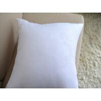 磨毛布PP棉抱枕芯 45*45 十字绣芯 靠枕芯 支持定做j 白色玫瑰压花 45*45cm