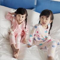 女童睡衣2018春冬装新款韩版小童宝宝两件套儿童珊瑚绒家居服套装