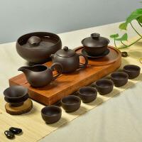 紫砂茶具套装原矿紫泥红茶功夫茶具整套西施茶壶茶杯盖碗礼品