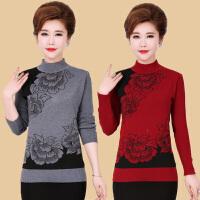 中老年女装秋冬装针织衫中年女士打底衫妈妈装短款半高领套头毛衣