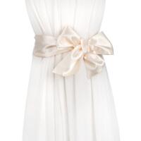 新品百搭女士丝质飘带 配裙子蝴蝶结打结宽腰封腰带 气质装饰围巾