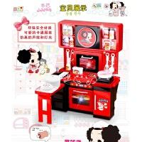 维莱 富达尔 厨房过家家 儿童玩具女 餐桌食物玩具 带灯光音效 礼盒装