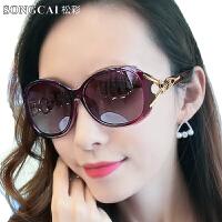 偏光太阳镜女潮大框圆脸开车防紫外线墨镜女士太阳眼镜