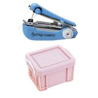 带缝纫机针线盒便携套装迷你家用阵线盒大号多功能针线包