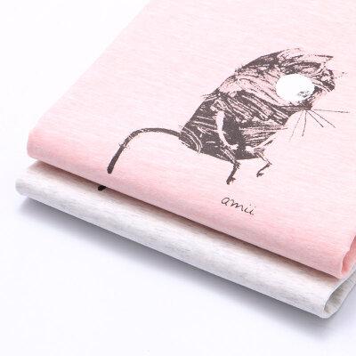 【尾品汇 5折直降】amii童装2017夏季新款女童短袖T恤卡通印花翻折袖口百搭休闲上衣