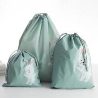 衣物旅行收纳袋内衣服整理袋密封袋行李箱束口收纳包套装磨砂