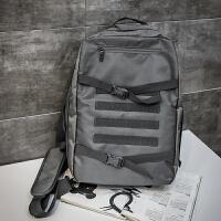 学生双肩包男旅行背包时尚潮流单肩包运动斜挎包校园bf风书包
