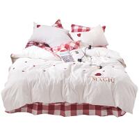 床上四件套棉被套床单1.8m床公主风少女心三件套小清新.