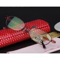 镂空气质高贵小框眼镜防蓝光护目镜防疲劳电脑防辐射眼镜可配平光散光变色眼镜