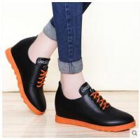 古奇天伦新款韩版百搭小皮鞋英伦风平底单鞋子内增高女鞋春季FRT752