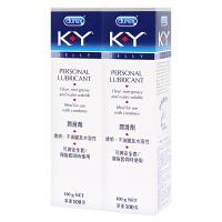 [当当自营]Durex杜蕾斯 K-Y人体润滑剂100g*2支 原装进口 KY 人体润滑剂 润滑油 润滑液 情趣 水溶性