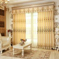 窗帘遮光 布料欧式豪华客厅卧室落地窗绣花成品