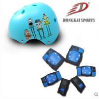 户外儿童轮滑滑板膝厚实安全7件套头盔护具平衡自行车溜冰鞋头盔护