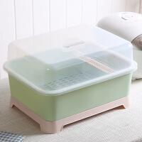 碗架沥水架厨房家用装碗筷放盘子收纳盒带盖收纳箱置物架塑料碗柜