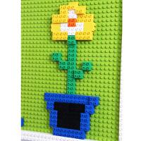 幼儿园积木墙壁 兼容乐高大颗粒积木底板拼装建构玩具 儿童积木墙 浅灰色 1平方含积木