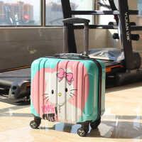 女士拉杆包定制登机万向轮行李箱拉杆箱旅行旅行箱皮箱斜挎包多功能小包短款韩版 镜面款有电脑夹层(买一送十)