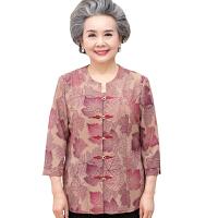 中老年女装夏装半袖七分袖套装60-70-80岁奶奶装春装妈妈装上衣
