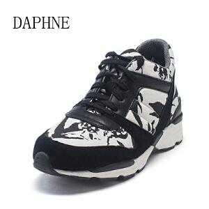 Daphne/达芙妮春季时尚系带深口休闲运动女鞋