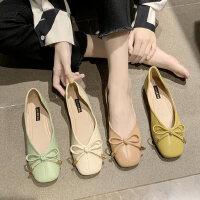 韩版女士气质单鞋时尚复古平底鞋休闲软底女鞋ins潮