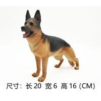动物模型玩具儿童玩偶男孩礼物超大号仿真狗创意摆件哈士奇牧羊犬SN5204 德国牧羊犬 棕色